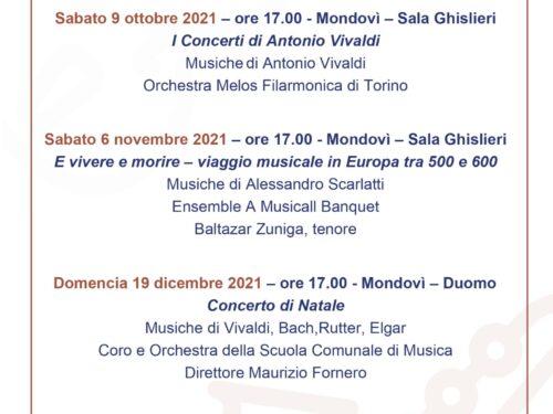 MONDOVÌ MUSICA 2021 – STAGIONE CONCERTISTICA OTTOBRE-DICEMBRE